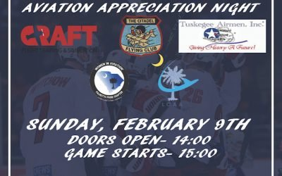 CRAFT Aviation Appreciation Nonprofit Night with South Carolina Stingrays – Sunday, February 9th at 3PM