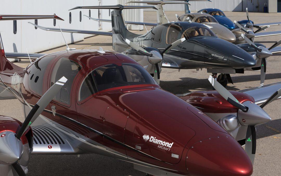 A fleet of four diamond aircraft